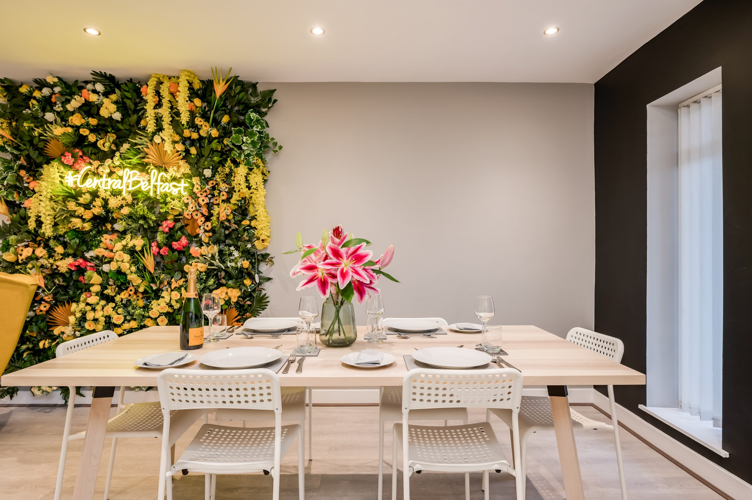 flower wall apartment belfast